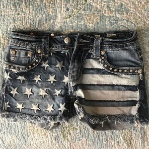 Miss Me American flag shorts size 27